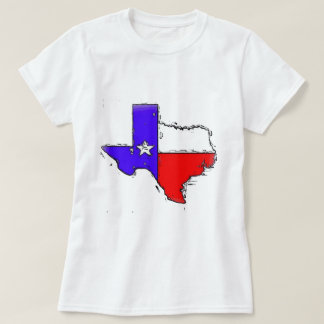 Artistic Texas state flag T-shirts