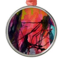 Artistic Texture, Colour Pattern Metal Ornament