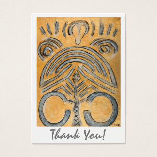 Artistic Thank You Original Abstract Art by MCB Business Card