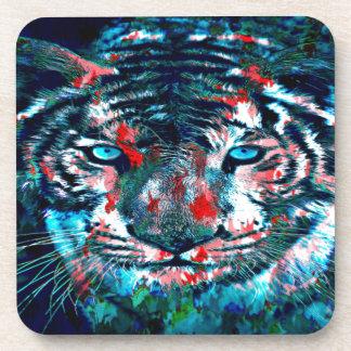 Artistic Tiger Coaster