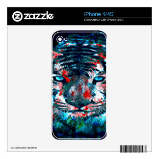Artistic Tiger Decals For iPhone 4