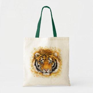 Artistic Tiger Face Budget Tote Bag