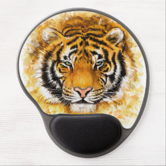 Artistic Tiger Face Gel Mouse Pad