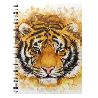 Artistic Tiger Face Notebook