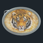 "Artistic Tiger Face Oval Belt Buckle<br><div class=""desc"">Artistic Tiger Face</div>"