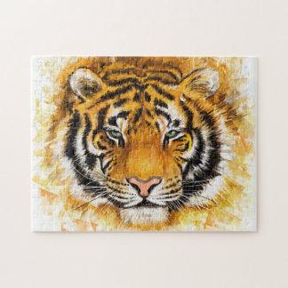 Artistic Tiger Face Puzzle