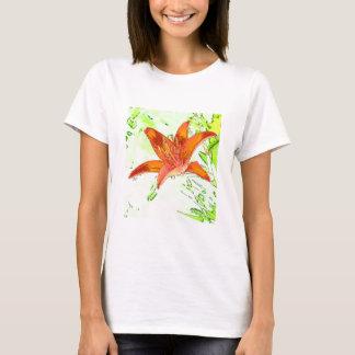 Artistic Tiger Lily T-Shirt