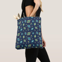 Artistic tote shoulder bag abstract style
