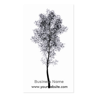Artistic Tree Double-Sided Standard Business Cards (Pack Of 100)