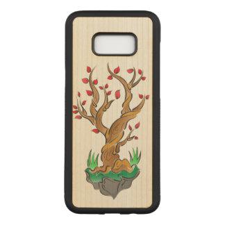 Artistic Tree Illustration Carved Samsung Galaxy S8+ Case