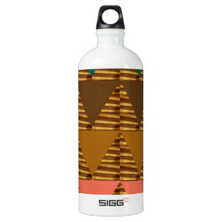ARTISTIC Triangle ART: Colorful Fabric Look Patter Aluminum Water Bottle