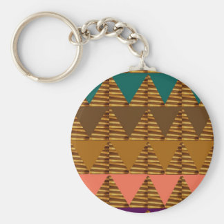 ARTISTIC Triangle ART Colorful Fabric Look Patter Key Chain