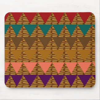 ARTISTIC Triangle ART: Colorful Fabric Look Patter Mouse Pad