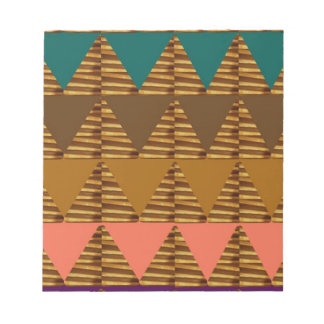 ARTISTIC Triangle ART: Colorful Fabric Look Patter Notepad