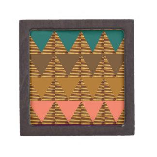 ARTISTIC Triangle ART: Colorful Fabric Look Patter Premium Trinket Box