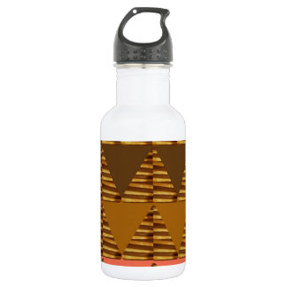 ARTISTIC Triangle ART: Colorful Fabric Look Patter Stainless Steel Water Bottle