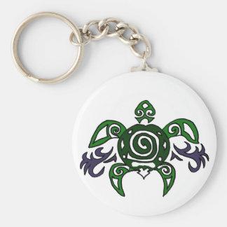 Artistic Tribal Turtle Original Art Keychain