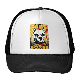 Artistic Urban Boxer Dog Breed Design Mesh Hats