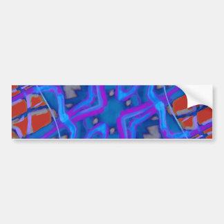 Artistic Vibrant Texture Car Bumper Sticker
