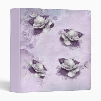Artistic Violet Floral Binder