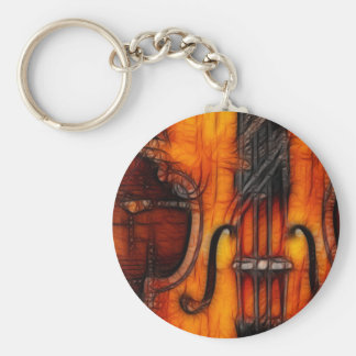 Artistic Violin Keychain
