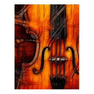 Artistic Violin Postcard