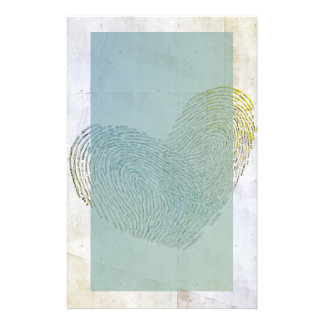 Artistic washed out heart text design stationery