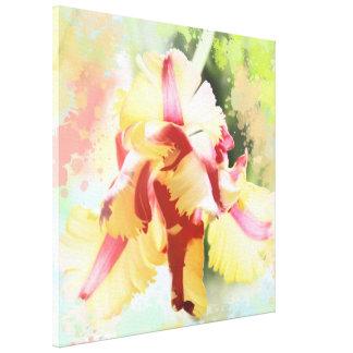 Artistic water colour Parrot Tulip Canvas Print
