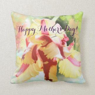 Artistic water colour Parrot Tulip pillow
