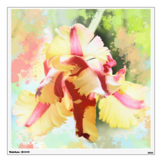 Artistic water colour Parrot Tulip Wall Decal