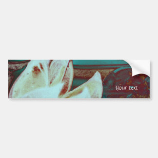 Artistic Water Lilly in Red and Blue Bumper Sticker