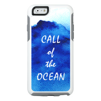 Artistic Watercolor Ocean Blue Abstract OtterBox iPhone 6/6s Case