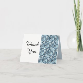 Artistic Wedding Thank you Note Card