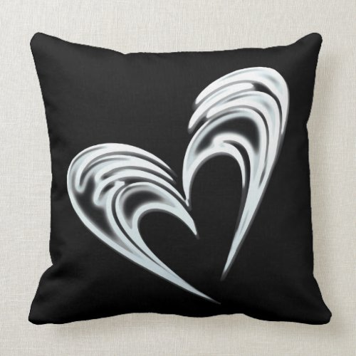 Artistic white heart on black