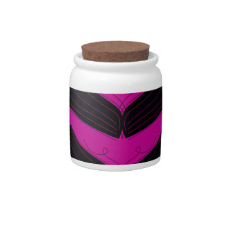 Artistic wings black purple candy dishes
