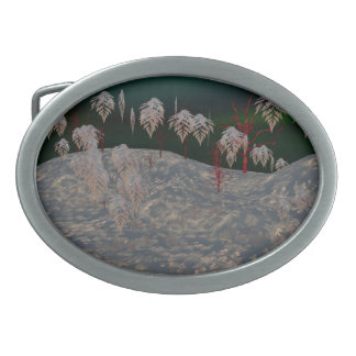 Artistic Winter Wonderland Belt Buckle