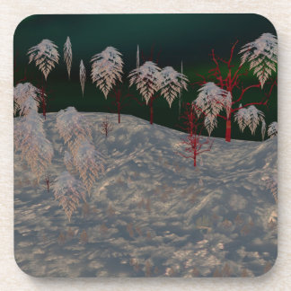 Artistic Winter Wonderland Coasters