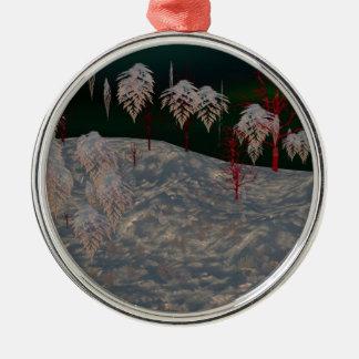 Artistic Winter Wonderland Round Ornament