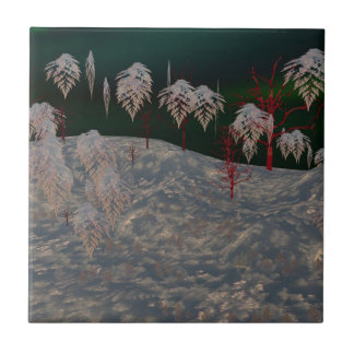 Artistic Winter Wonderland Tile
