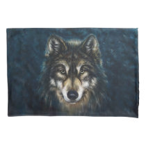 Artistic Wolf Face (1 side) Pillowcase