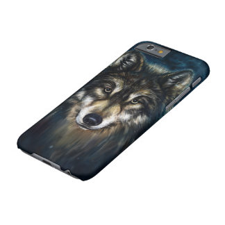 Artistic Wolf Face Barely There iPhone 6 Case