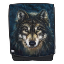 Artistic Wolf Face Boldface Backpack