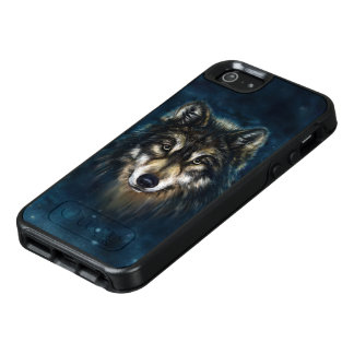 Artistic Wolf Face OtterBox iPhone SE Case