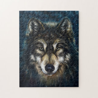 Artistic Wolf Face Puzzle