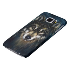 Artistic Wolf Face Samsung Galaxy S6 Cases