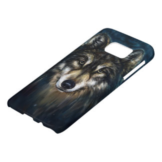 Artistic Wolf Face Samsung Galaxy S7 Case