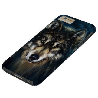 Artistic Wolf Face Tough iPhone 6 Plus Case