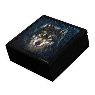 Artistic Wolf Face Trinket Box