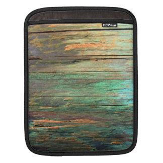 Artistic wood grain ipad sleeve