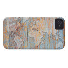 Artistic wooden world map iPhone 4 cover